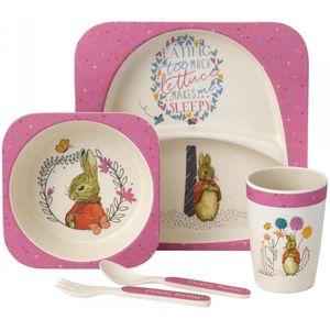 Beatrix Potter Organic Bamboo Dinner Set - Flopsy Bunny