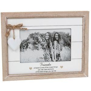 "Provence Sentiment Photo Frame 6"" x 4"" - Friends"