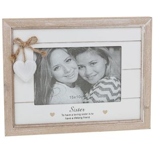 "Provence Sentiment Photo Frame 6"" x 4"" - Sister"