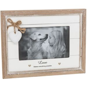 "Provence Sentiment Photo Frame 6"" x 4 "" - Love"