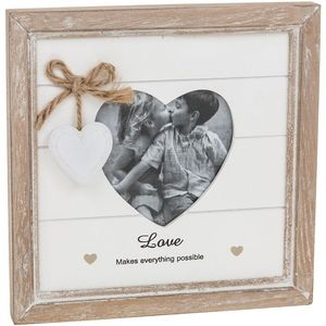 Provence Message Heart Photo Frame - Love