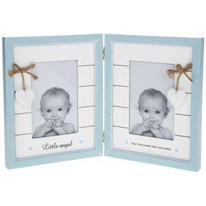Provence Baby Double Photo Frame Boy