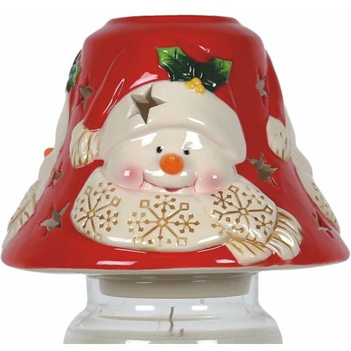 Aromatize Jar Candle Lamp Shade: Snowman VC977 Christmas Decor