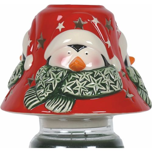 Aromatize Jar Candle Lamp Shade: Penguin VC978 Christmas Decor