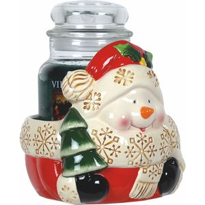 Aroma Jar Candle Holder: Snowman