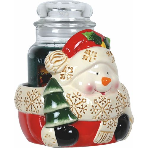 Aromatize Jar Candle Holder: Snowman VC974 Christmas Decor