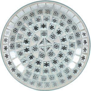 Aroma Candle Plate: Snowflakes Mosaic