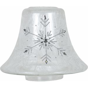 Aroma Jar Candle Lamp Shade: Frosted Snowflake