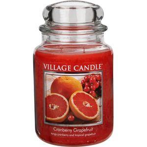 Village Candle Cranberry Grapefruit Large Jar Candle