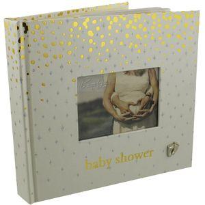 Bambino Gold Dots Photo Album Baby Shower