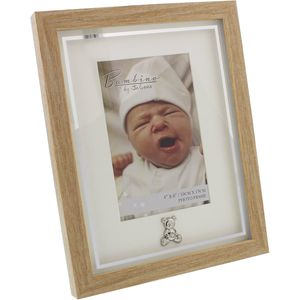 """Baby Photo Frame with Teddy Icon 4x6"""""""