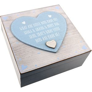 Petit Cheri Baby Keepsake Box - What Are Little Boys Made Of?