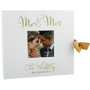 "Always & Forever Photo Album 6x8"" - Mr & Mrs Our Wedding Memories"