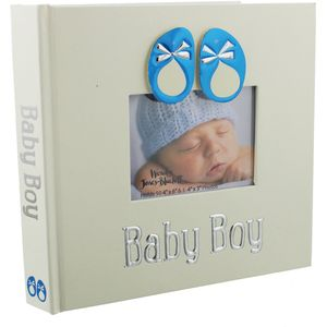 "Baby Boy Photo Album 4x6"""