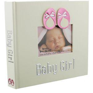 "Wendy Jones Blackett Photo Album Holds 50 4"" x 6"" Prints - Baby Girl"