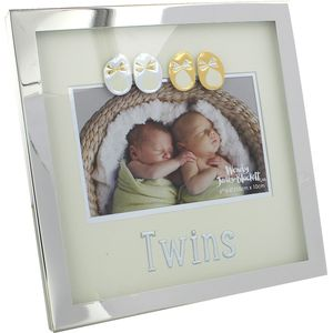 "Wendy Jones Blackett Silver Plated Photo Frame 6"" x 4"" - Twins"