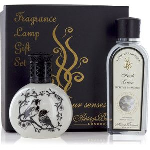 Fragrance Lamp Gift Set Two Little Birds & Fresh Linen