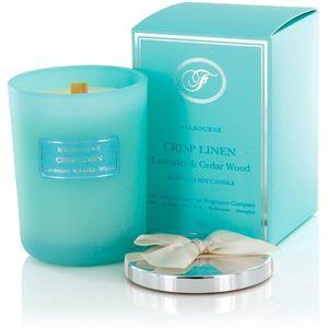 Scented Candle Crisp Linen: Lavender & Cedar Wood