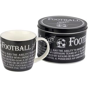 Man Mug in Gift Tin - Football design