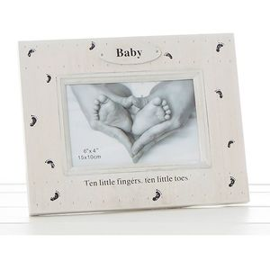 "Foot Prints Photo Frame 6x4"" Baby"