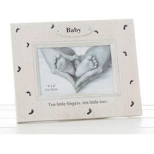 "Foot Prints Photo Frame - Baby (6x4"")"