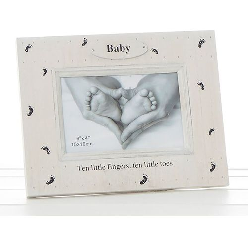 "Foot Prints Photo Frame 6"" x 4"" - Baby"