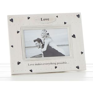 "Heart Prints Photo Frame - Love (6x4"")"