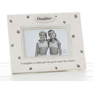 "Flower Print Photo Frame Daughter (6x4"")"