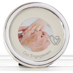 Our Engagement Circle Photo Frame