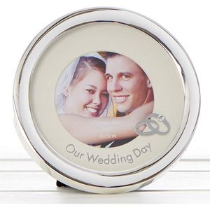 Our Wedding Circle Photo Frame