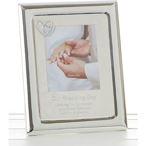 Wedding Day Photo Frame 4x6""