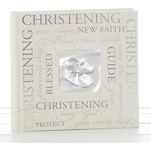 "Christening Photo Album 6"" x 4"" Script Design"