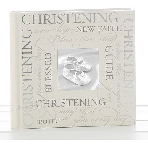"""Christening Photo Album 6"""" x 4"""" Script Design"""