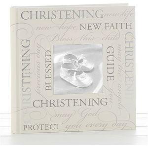 """Christening Photo Album (script design) 5x7"""""""