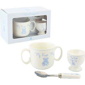 Baby Mug Egg Cup & Spoon gift Set Blue