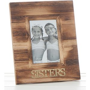 Weathered Wood Photo Frame - Sister
