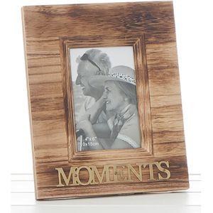 "Weathered Wood Photo Frame 4"" x 6"" - Moments"