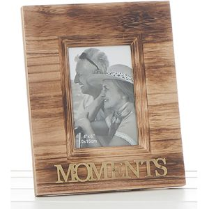 weathered wood photo frame - Moments