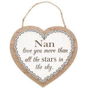Chantilly Lace Heart Plaque - Nan