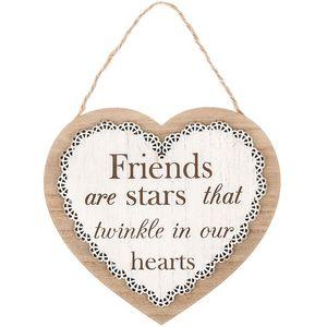Chantilly Lace Heart Plaque - Friends