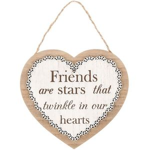 Chantilly Lace Heart Sentiment Plaque - Friends