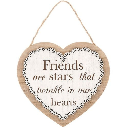 Chantilly Lace Heart Sentiment Plaque - Friends