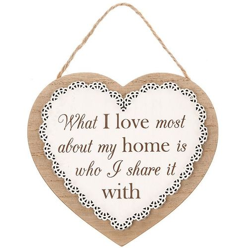 Wooden Home Plaque wall hanging with verse