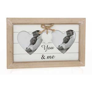 Provence Double Heart Photo Frame - You & Me