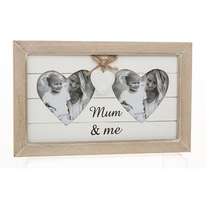 Double Heart Photo Frame Mum & Me