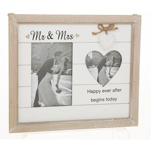 Mr & Mrs Double Photo Frame Wedding