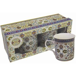 Kashmir China Mugs Boxed Set of 2