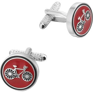 Cycling Racer (Red) Cufflinks