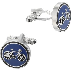 Cycling Racer (Blue) Cufflinks