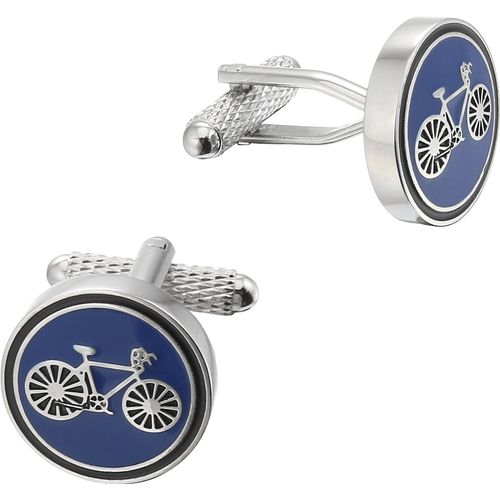 Onyx Art of London Cycling Racer (Blue) Cufflinks